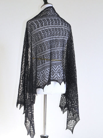 Black lace shawl