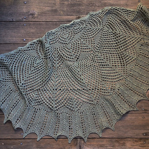 Wool silk shawl