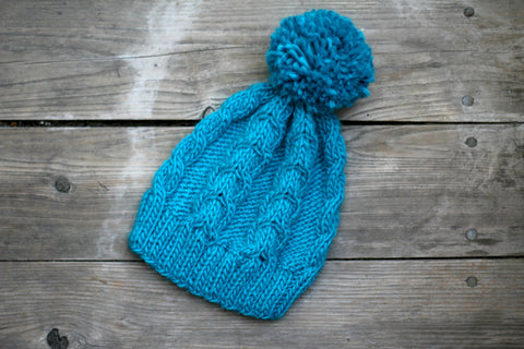 Knit cable hat