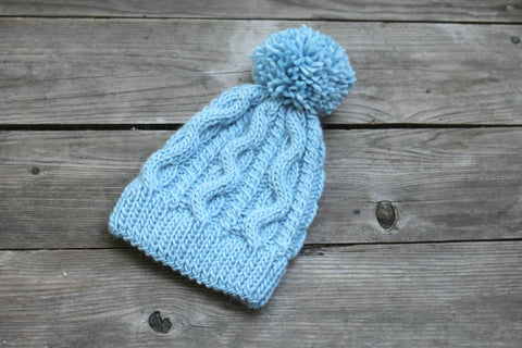 Knit blue hat