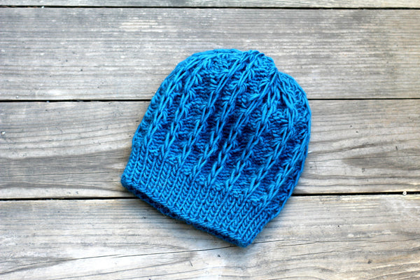 Dark blue knit hat