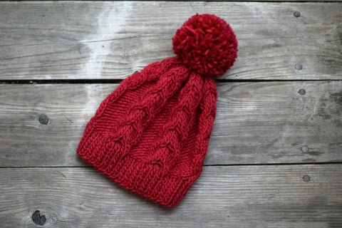 Wine red hat