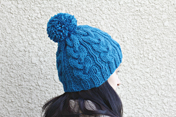 Dark blue knitted hat