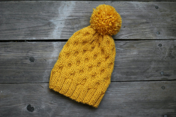 Knit honeycomb hat