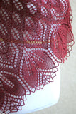 Burgundy lace shawl