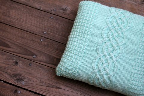 Knit pillow case