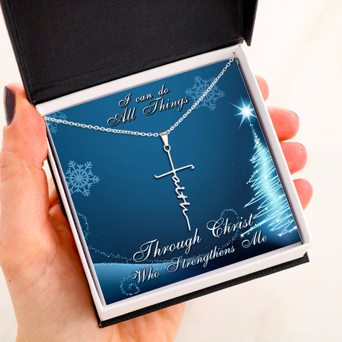 I CAN DO ALL THINGS - FAITH NECKLACE Christmas Edition