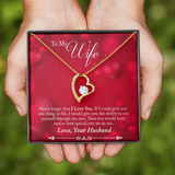 Valentines Husband to Wife Heart Necklace