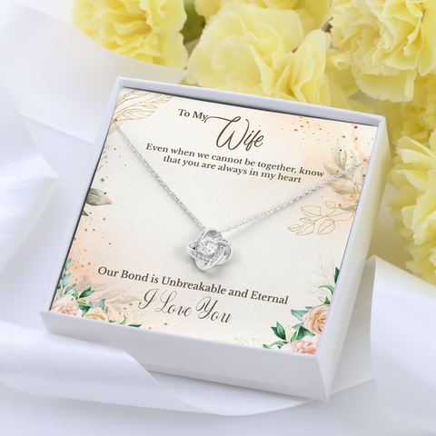 Husband to Wife Love Knot Necklace