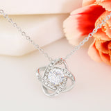 "Mother's Day ""I Carry You In My Heart"" Love-Knot Necklace"