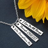 EASTER  I Can Do All Things Through Christ Bar Necklace