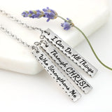 I Can Do All Things Through Christ Necklace Christmas Edition