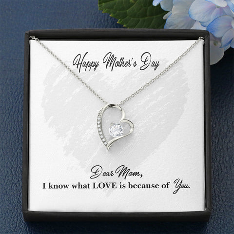 "Mother's Day ""I Know What Love Is"" Forever Love Necklace"