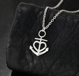 ANCHORED IN FAITH HOPE and LOVE Necklace