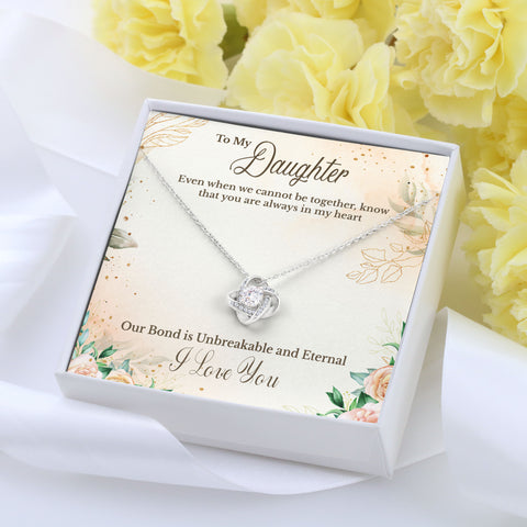 To Daughter Love Knot Necklace