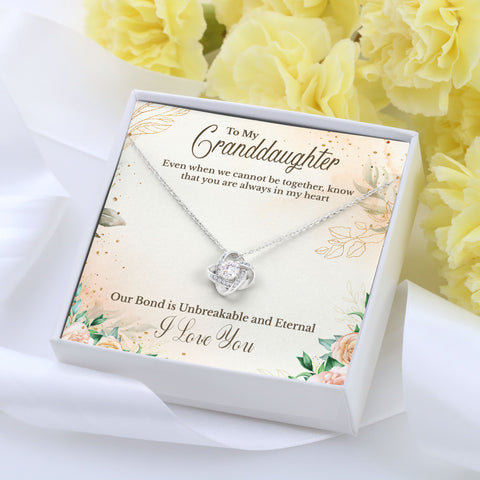 To Granddaughter Love Knot Necklace