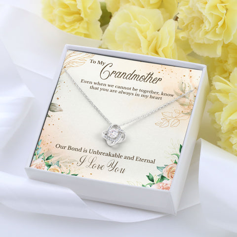 To Grandmother Love Knot Necklace