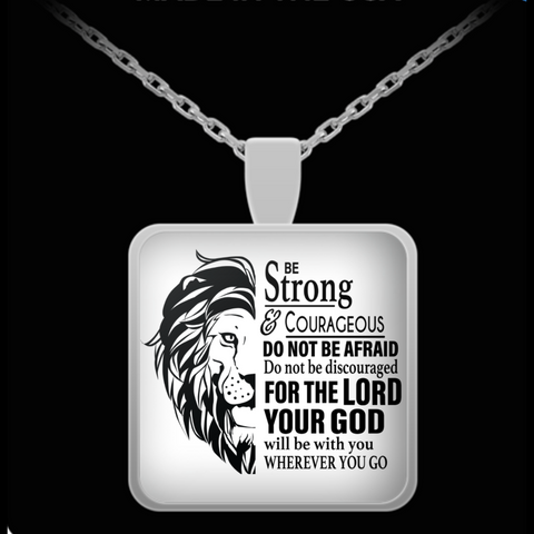 Joshua 1:9 Pendant Necklace