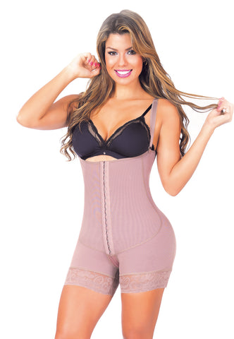 MID THIGH POWERNET BODY SHAPER SUIT (3 HOOK) #405