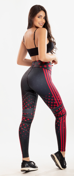 7019 SPORT ROJO COLOMBIAN LEGGINS BUTT LIFTER COLOMBIAN LEGGINS LEVANTAPOMPIS