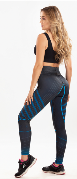 7019  SPORT AZUL COLOMBIAN LEGGINS BUTT LIFTER COLOMBIAN LEGGINS LEVANTAPOMPIS