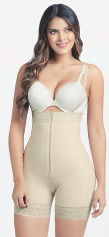 LATEX MID THIGH  BODY SHAPEWEAR WITH ZIPPER #630