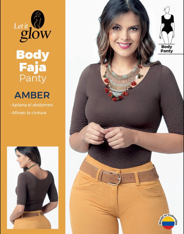 AMBER Fajas Bodys Panty Brown