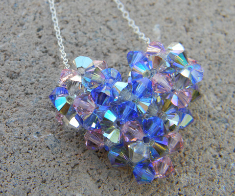 My Heart Crystal Pendant - Denim Life