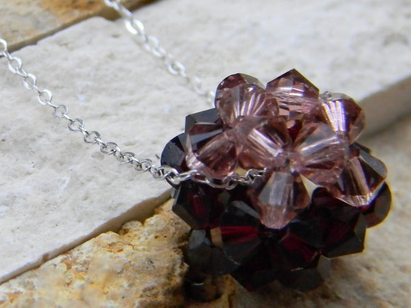 The Crystal Ball Pendant - Black Raspberry