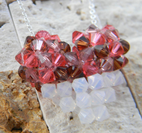 My Heart Crystal Pendant - Bloom