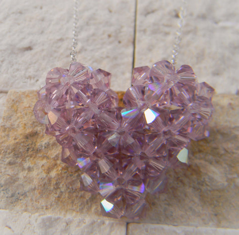 Light Amethyst Heart (June)