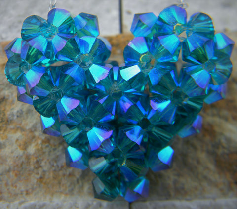 Blue Zircon Heart (December)
