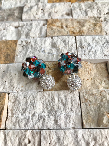 Santa Fe Crystal Ball Earrings