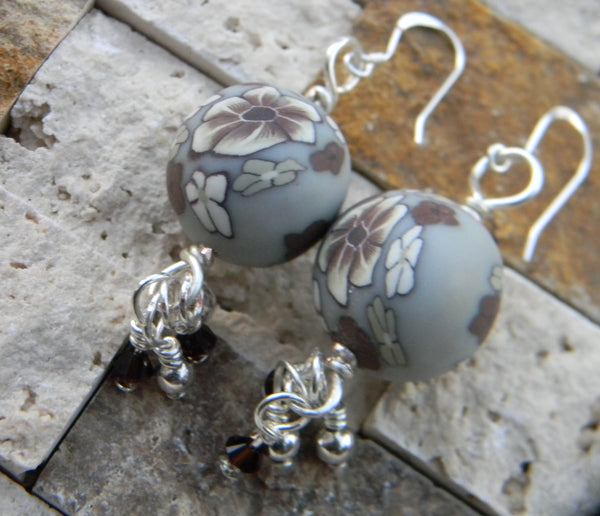 Earrings - Winter Flower Dangle Earrings