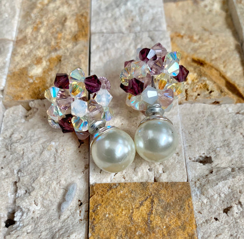 Gem Crystal Ball Earrings