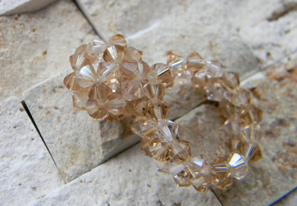 Ring - Golden Crystal Ball Ring
