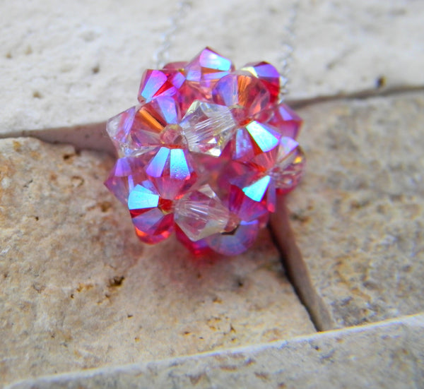 The Crystal Ball Pendant - The Crystal Ball Pendant - Pink Mosaic