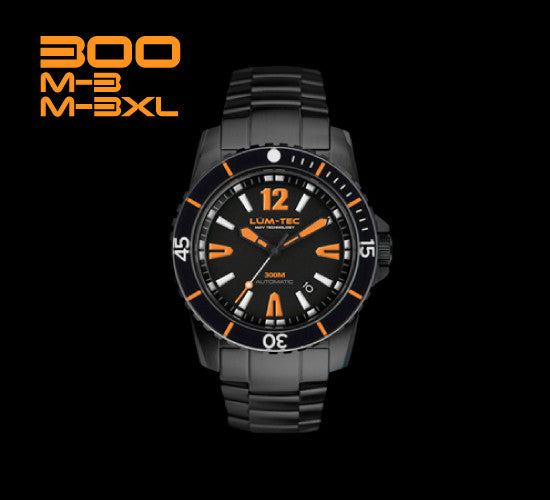300M-3 and M-3XL Black PVD