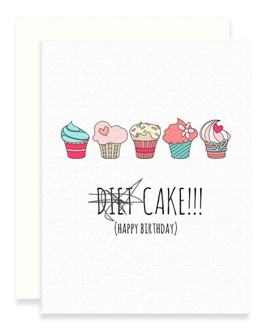 No Diets, Cake Card