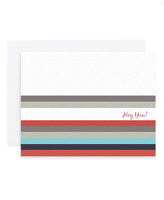 Hey You Stripes Card