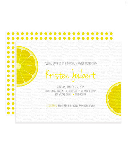 Lemon Drop Invitation