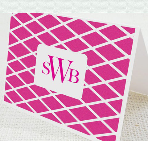 Pink Diamond Monogram Card