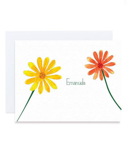 Simple Flower Personalized Card
