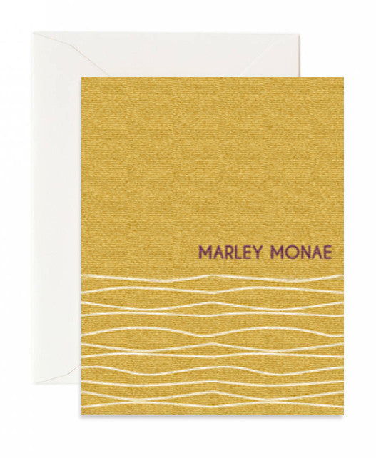 Personalized Swirls Golden Card