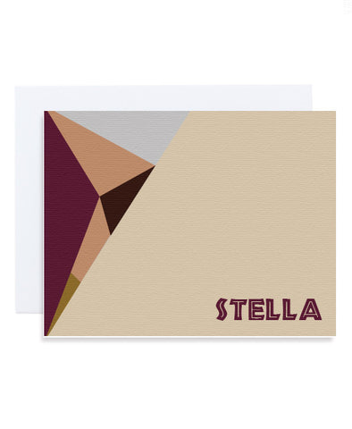 Colorblock Shapes Card