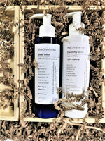 Large gift box with 100% Natural Body Lotion & Cleansing Lotion for Face & Eyes
