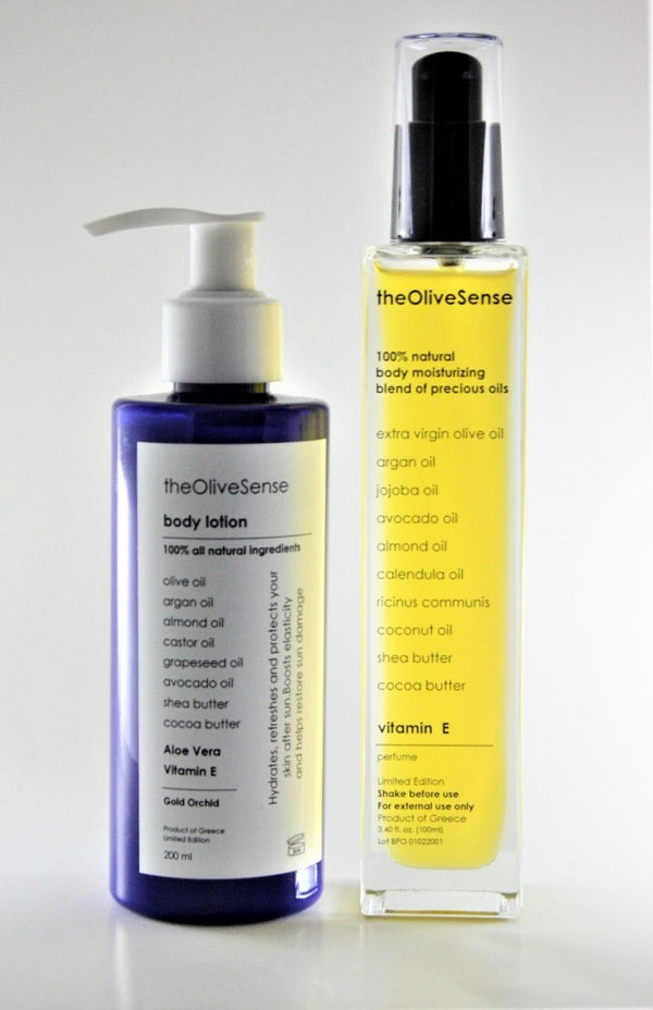 Set Body Lotion &  Body moisturizing blend of precious oils with vitamin E