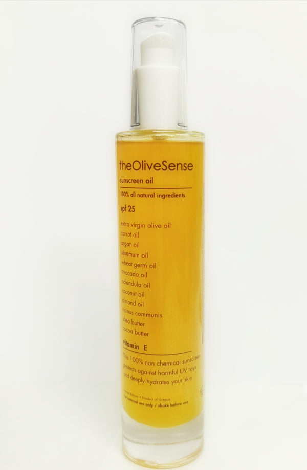 sunscreen oil  with vitamin E