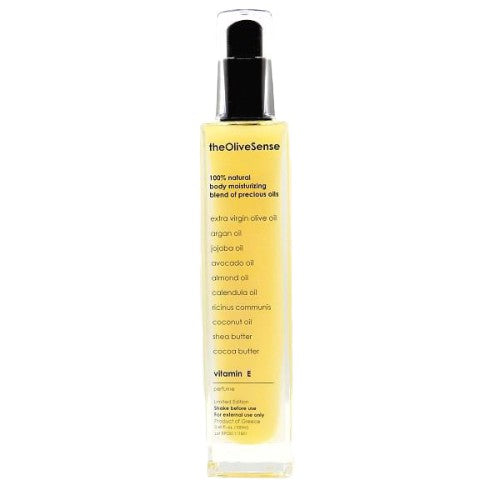 Body moisturizing blend of precious oils with vitamin E