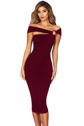Deep V bodycon dress (bon bon fabric )
